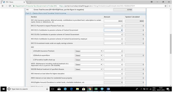 Income Tax E-Filing ( ITR-1) images 6