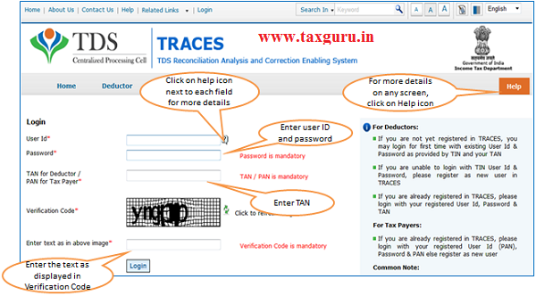 Login at TRACES