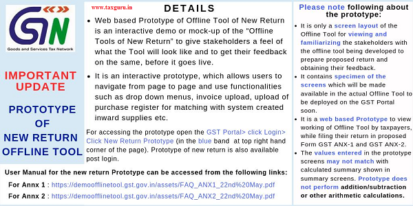 NEW GSTR Offline Tool Prototype Released on GST Portal