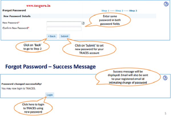 Tax Payer Forgot Password of TRACES – How to Retrieve | TaxGuru