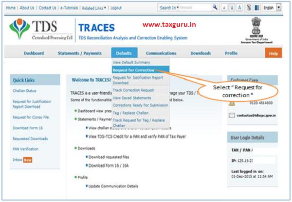 Online Correction Request Flow