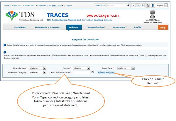 Online Correction Request Flow image 2