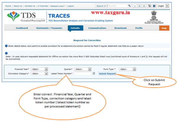 Online Correction Request Flow image2