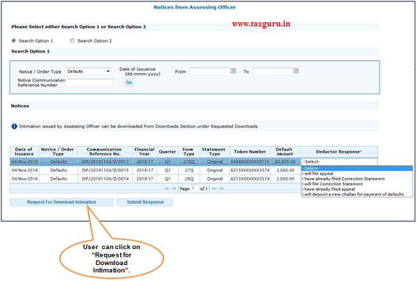 Procedure to download Intimation form Assessing Offic