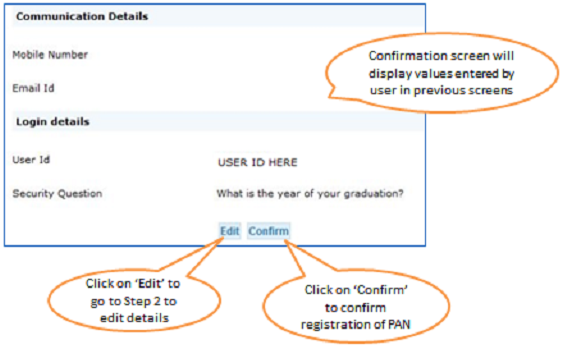 Register as New User – Step 4 Confirmation Screen 2