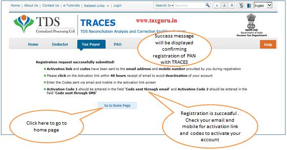 Register as New User – Success Message