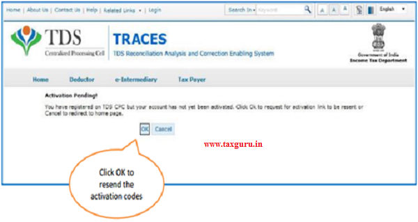 Resend Activation Code- e-Tutorial Resend Activation Code