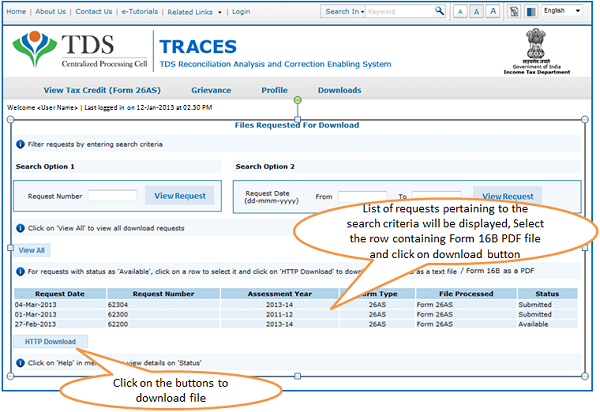 E-Tutorial on How to Download Form 16B from TRACES Website | TaxGuru
