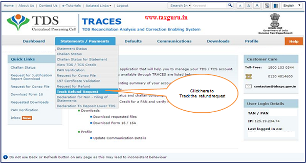 Step 10 Click on Track Refund Request to track the request