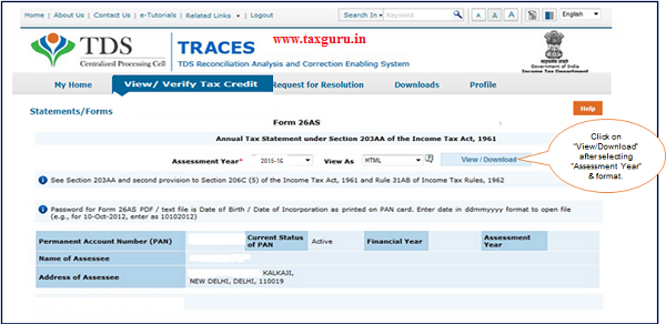 How to Download Form 26AS | TaxGuru