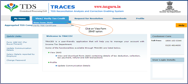"Step 3 Click on ""View Form 26AS"" option"