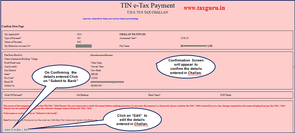 How to pay Online TDS/TCS/Demand payment with Challan ITNS 281
