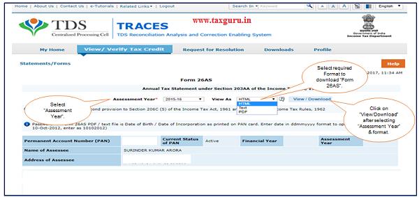 How to Download Form 26AS | TaxGuru