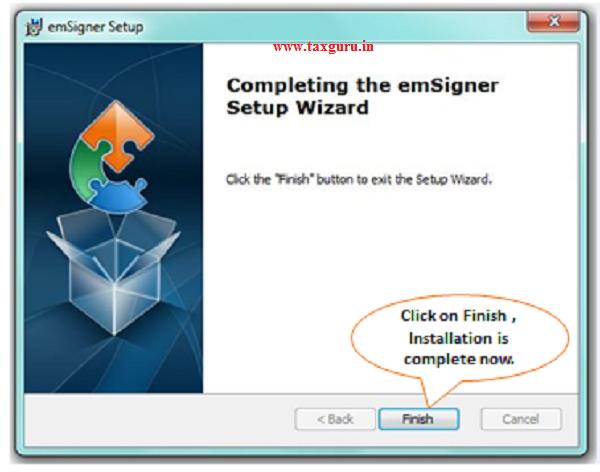 Step-5 (Contd.) Installation steps of TRACES Websocket Emsigner Setup image 4