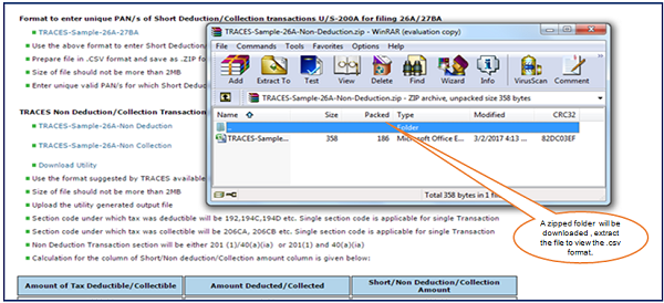Step 6 (Contd.) A Zipped folder will be downloaded , extract the file to view the file format.