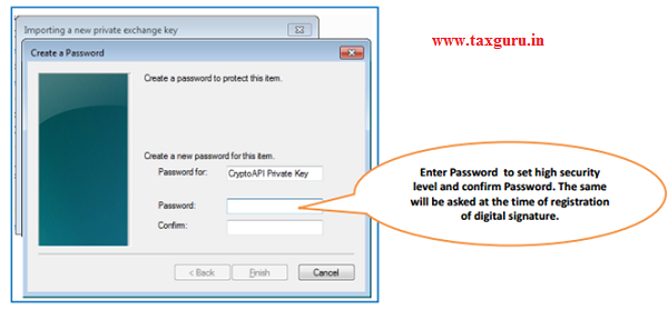Steps for Installation of Digital Signature Certificate (.PFX file) image 8