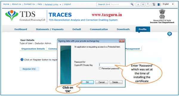 Steps to Register Digital Signature Certificate (Contd.) image 3