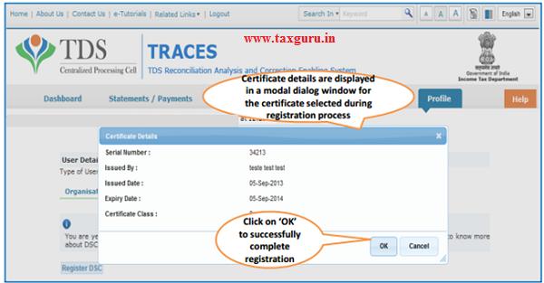 Steps to Register Digital Signature Certificate (Contd.) image 4