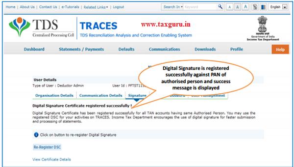 Steps to Register Digital Signature Certificate (Contd.) image 5