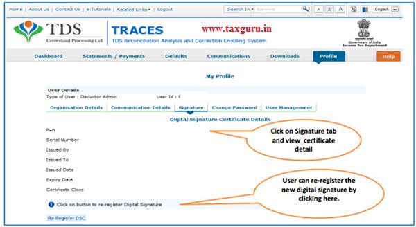 Steps to Register Digital Signature Certificate (Contd.) image 7