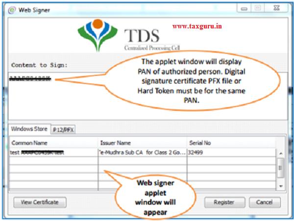 Steps to Register Digital Signature Certificate (Contd.)