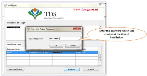 TRACES Web Socket Emsigner- Crypto Token usage image2