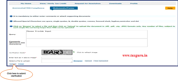"""After click on """"Clarification required by AO"""", user can give clarification with supported documents"""
