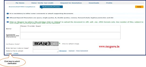 "After click on ""Clarification required by AO"", user can give clarification"