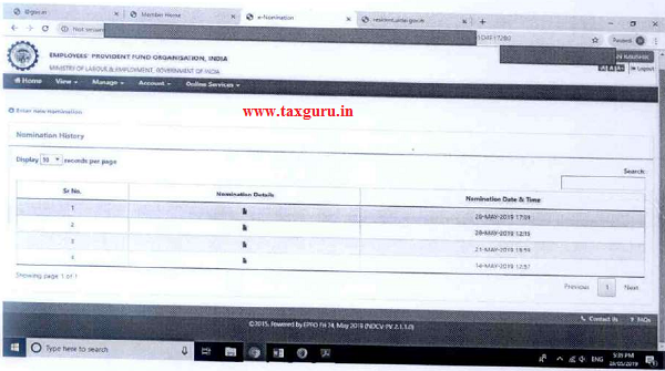 After e-sign successfully, you can view nomination details in pdf.