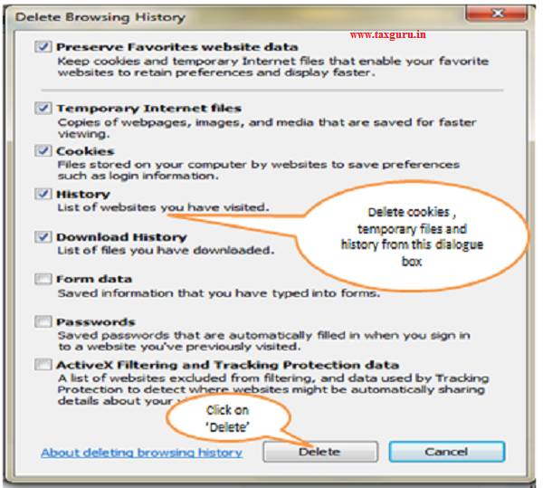 How to Clear Browser cache memory in Internet Explorer