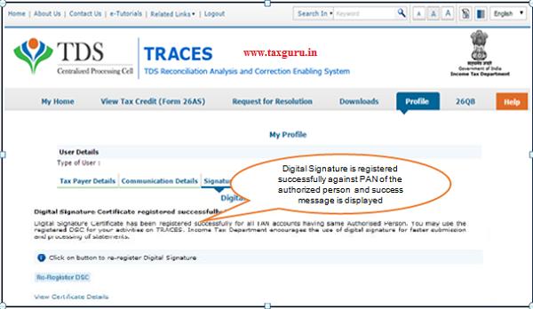 Digital Signature Registration