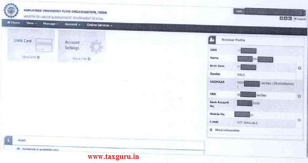 Member will login to the Member Interface of Unified Portal (URL is given above)