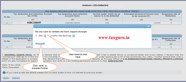 Step 1 User need to Click on E-Verify (Net Banking) option