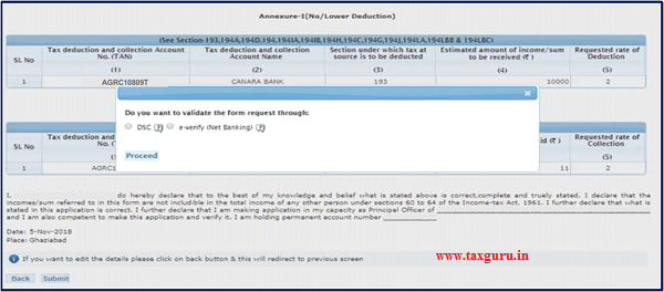 Step 10 A pop will appear on screen to validate the Form request