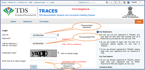Step 5 After clicking on E-Verified Services on Traces,