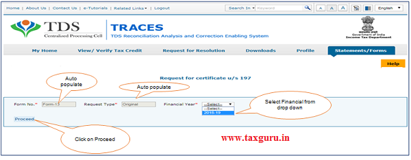 Step 5 Form No. (Form-13), Request Type will be auto-populated