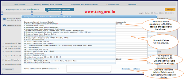 Step 8 (Contd.) After clicking on 'Template' button a window