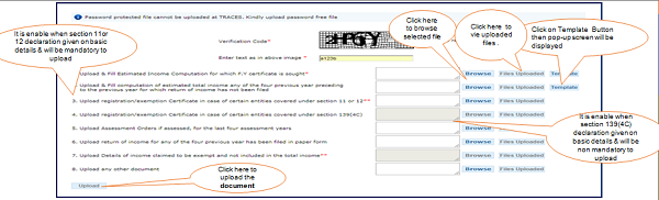 Step 8 (Contd.) Declaration page basic detail page User need to upload