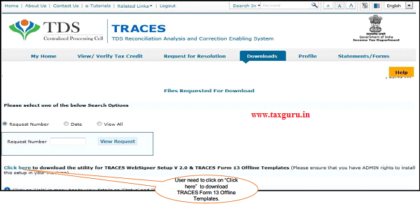 "Step 8 (Contd.) Input File format to upload transactions is available in ""Requested Downloads"""