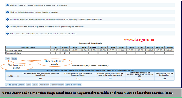 Step 8 (Contd.)Provide rate in requested rate table before