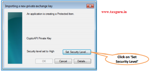 Steps for Installation of Digital Signature Certificate (.PFX file) image 7