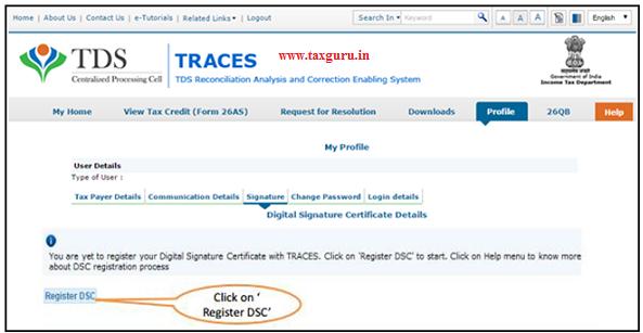 Steps to Register Digital Signature Certificate (contd.) E-Tutorial Digital Signature Registration