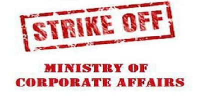 Strike Off Ministry of Corporate Affairs