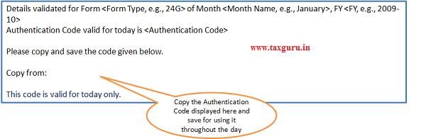 Validation Screen - Confirmation