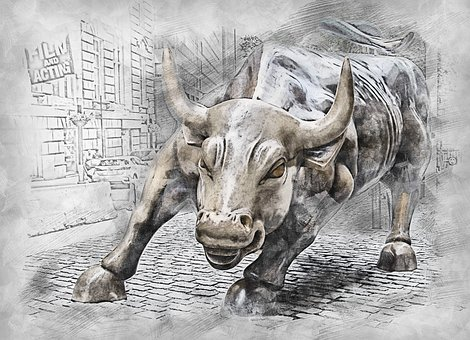 Bull - To signify BSE (Bombay Stock Exchange)