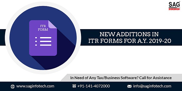 Additional Details Introduced in ITR forms for A.Y. 2019-20