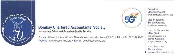 Bombay Chartered Accountants' Society (BCAS)