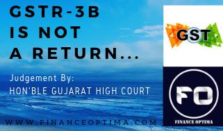GSTR3B is not Return