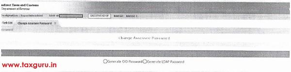 Options Generate OLD Password and Generate LDAP Password