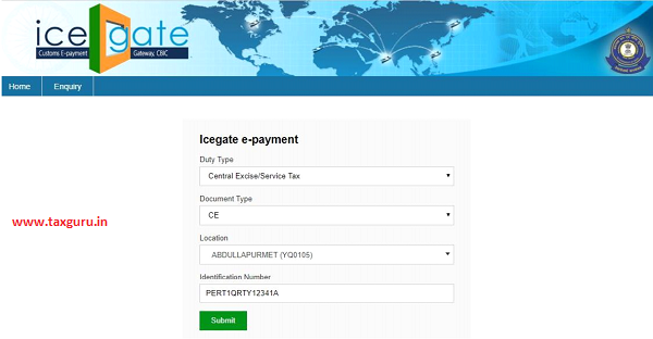 Central Excise / Service Tax NEFT – RTGS Payments Process on ICEGATE
